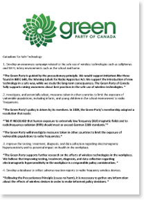 Response of the Green Party on Election 2015